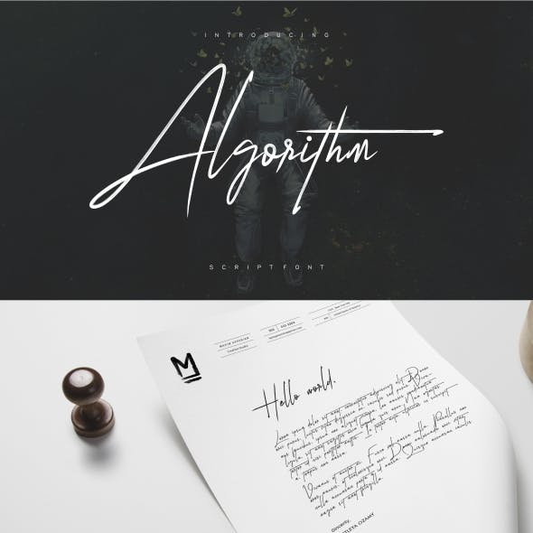 Algorithm Brush Font