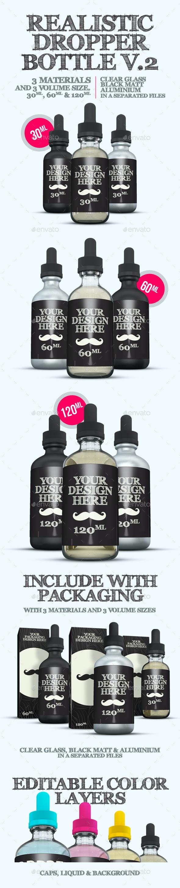 Realistic Dropper Bottle v.2 - Packaging Product Mock-Ups