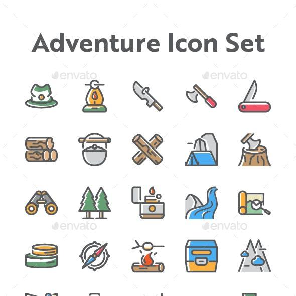 25 Adventure and Travel Icon Set