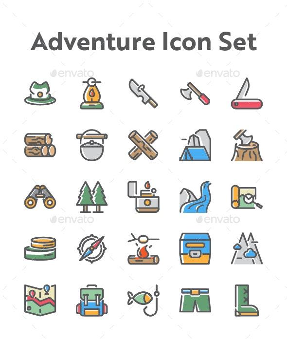 25 Adventure and Travel Icon Set - Icons