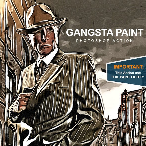 Gangsta Paint - Photoshop Action