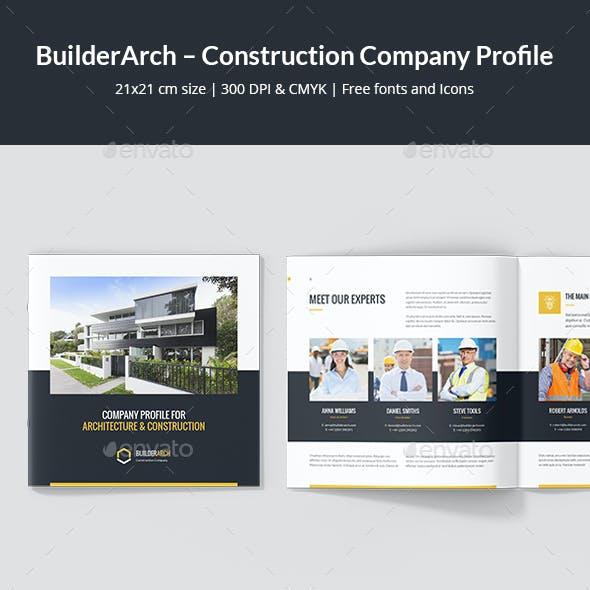BuilderArch – Construction Company Profile Square