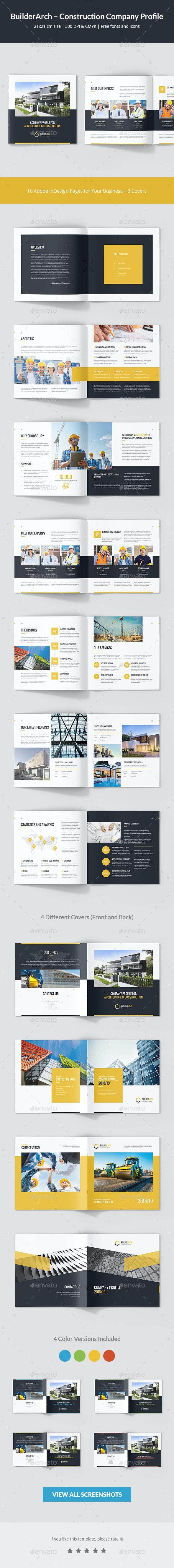 BuilderArch – Construction Company Profile Square - Corporate Brochures