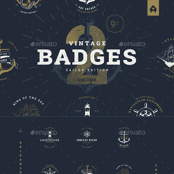Badge and Ribbon Badges & Sticker Templates from
