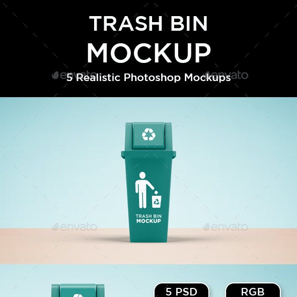 Trash Bin Mockup