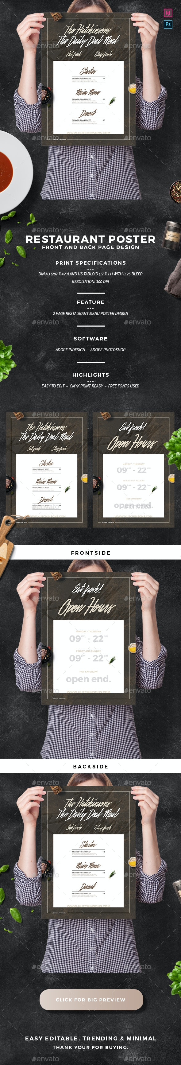 Restaurant Poster - Restaurant Flyers