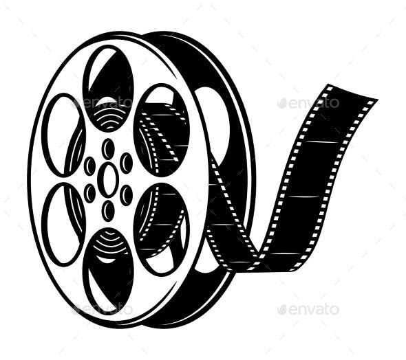 Vintage Film Reel Concept - Miscellaneous Vectors