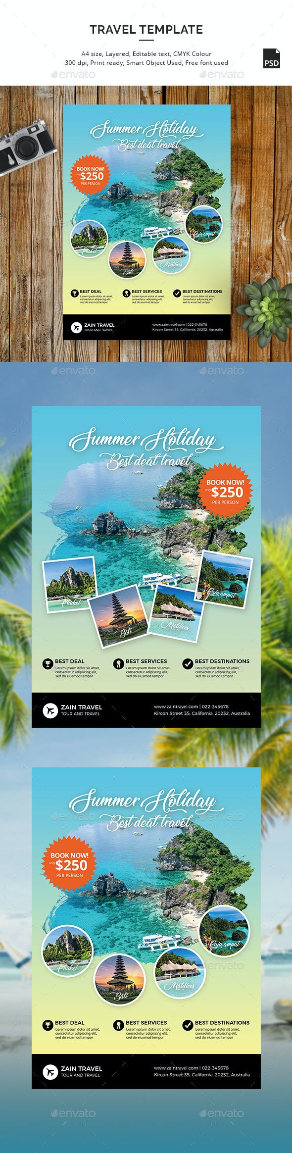 Travel Flyer Promo Template - Holidays Events