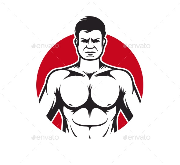 Bodybuilding Gym - People Characters