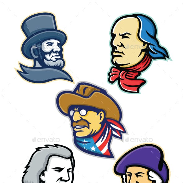 American Presidents and Statesman Mascot Collection