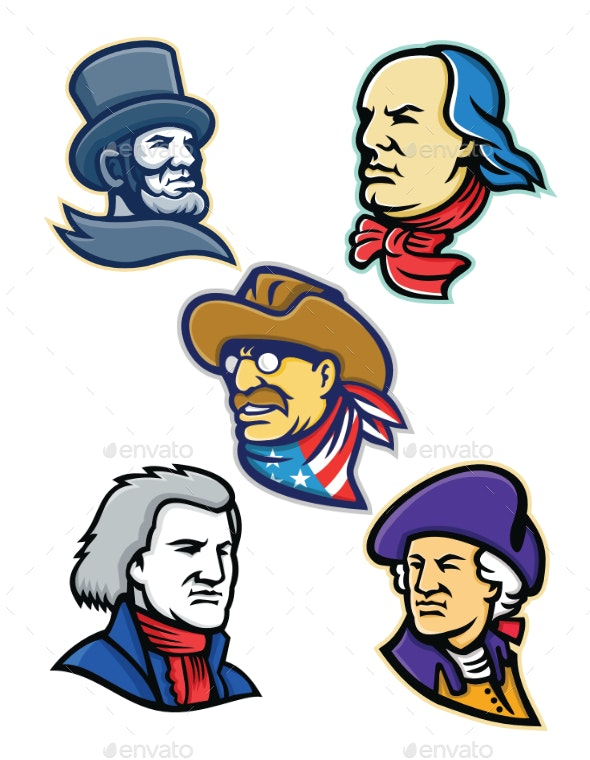 American Presidents and Statesman Mascot Collection - People Characters