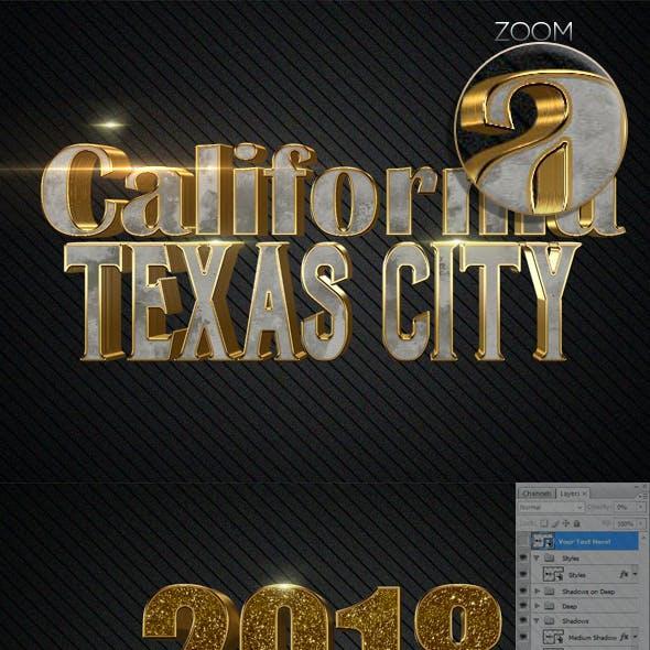 3D Text Styles N12