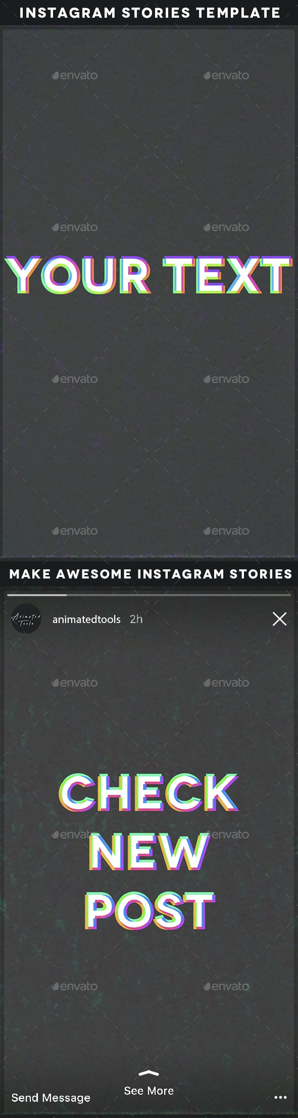 Animated VHS Instagram Stories Template - Miscellaneous Social Media