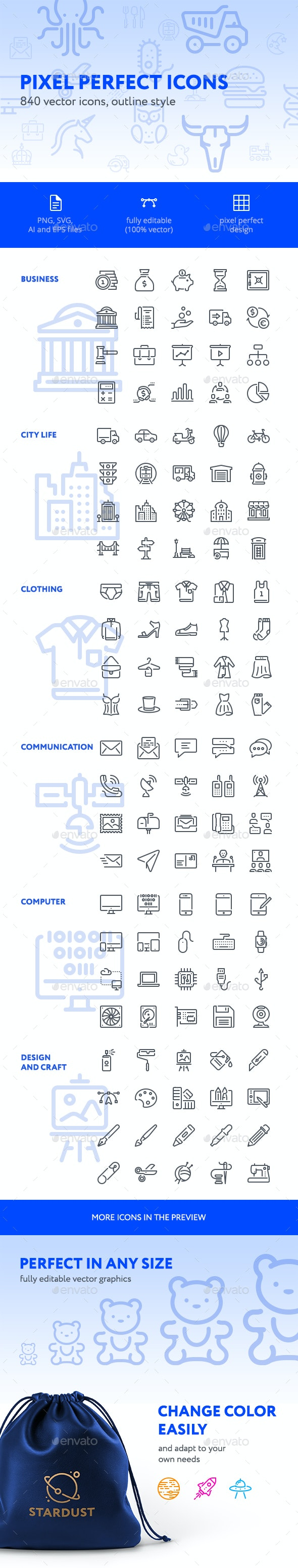 840 Pixel Perfect Icons - Miscellaneous Icons