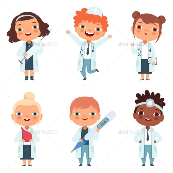 Doctor Profession Children - People Characters