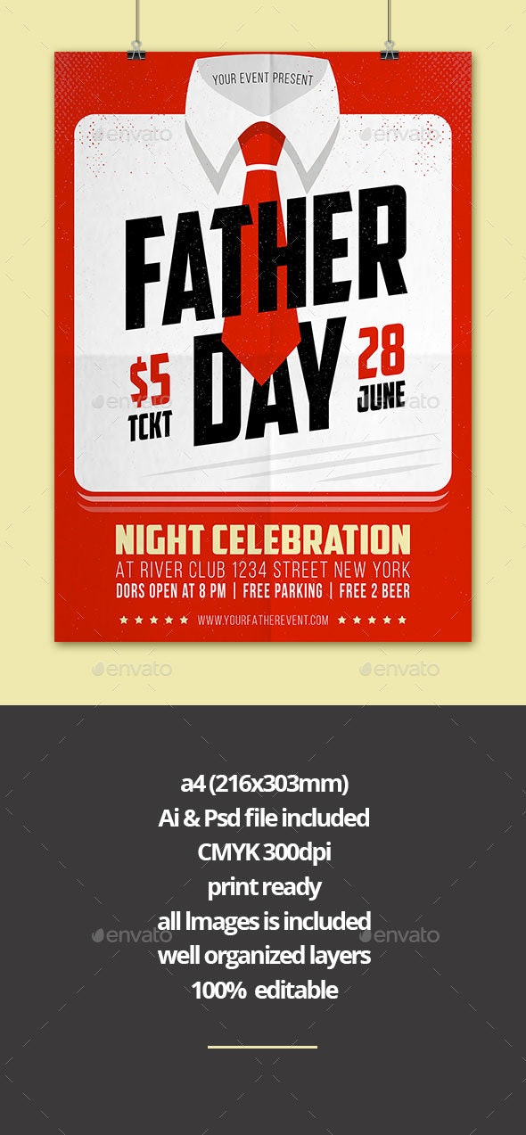 Father's Day Flyer - Events Flyers