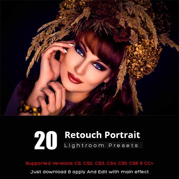20 Retouch Portrait Lightroom Presets