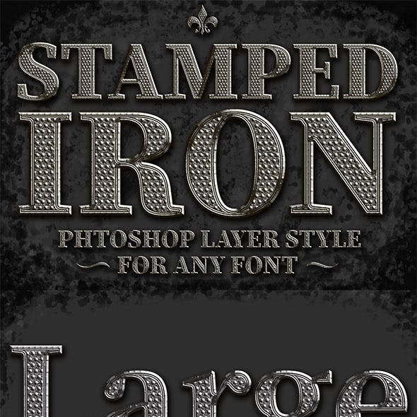 Metal Stamped PS Style