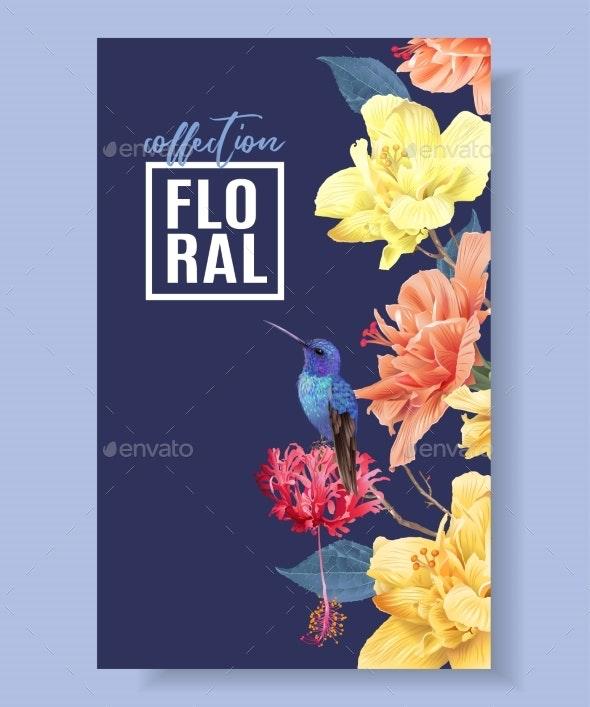 Tropic Floral Border - Flowers & Plants Nature