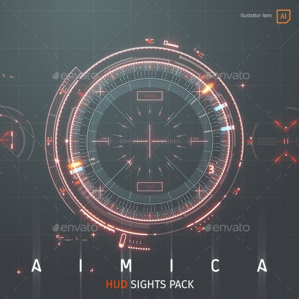 AIMICA: HUD Sights for Futuristic GUI
