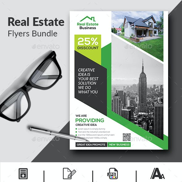Real Estate Flyers Bundle Template