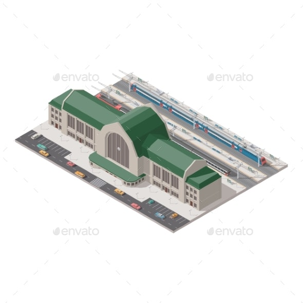 Passenger Railway Station - Buildings Objects