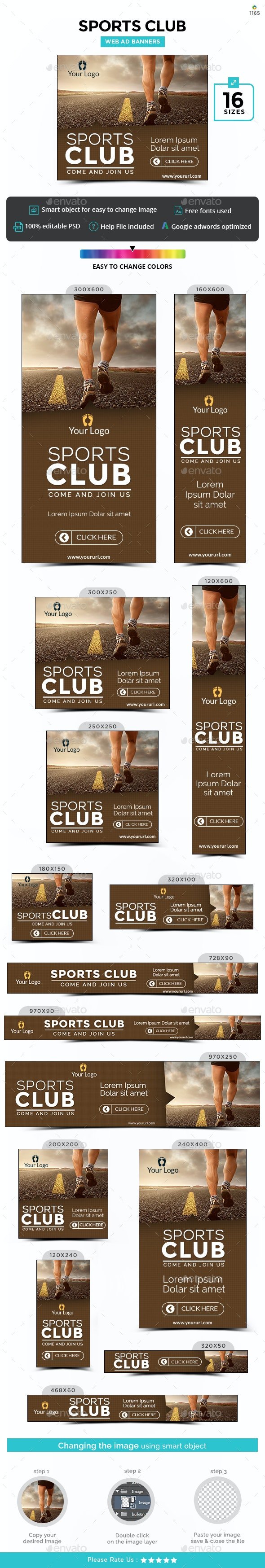 Sports Club Banners - Updated! - Banners & Ads Web Elements