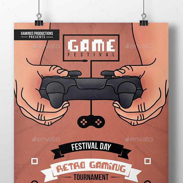 Gaming Hands Flyer Template
