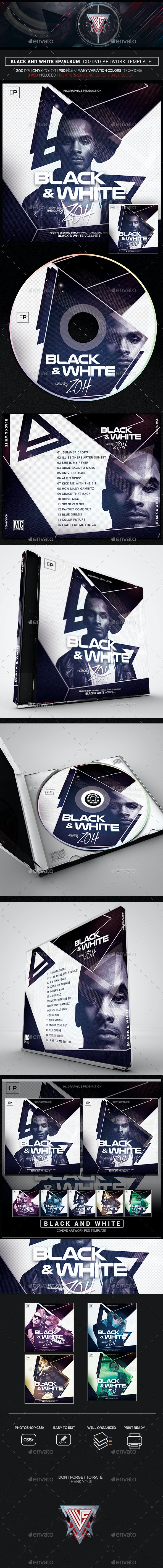 Guest DJ V10 Photoshop CD/DVD Template - CD & DVD Artwork Print Templates