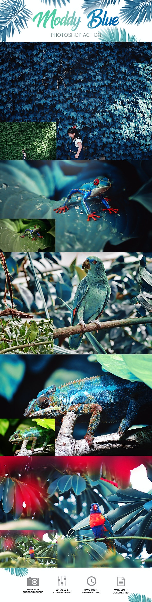 Moddy Blue Photoshop Action - Photo Effects Actions