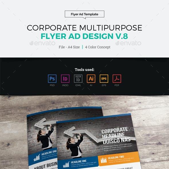 Corporate Multipurpose Flyer Ad Design v8