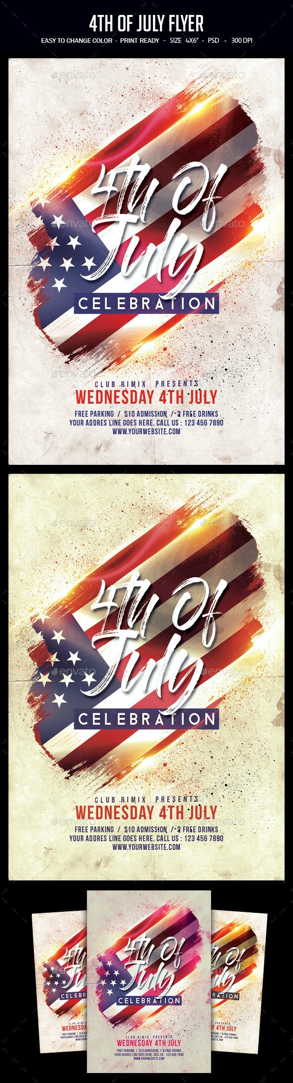 4th of July Flyer - Clubs & Parties Events