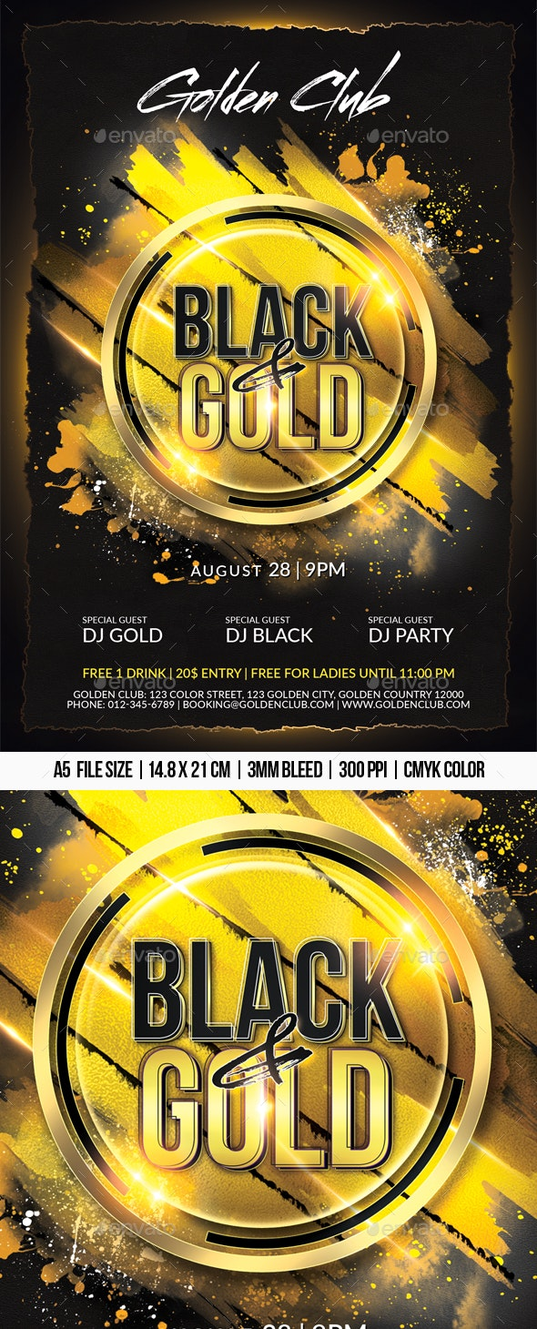 Black & Gold - Clubs & Parties Events