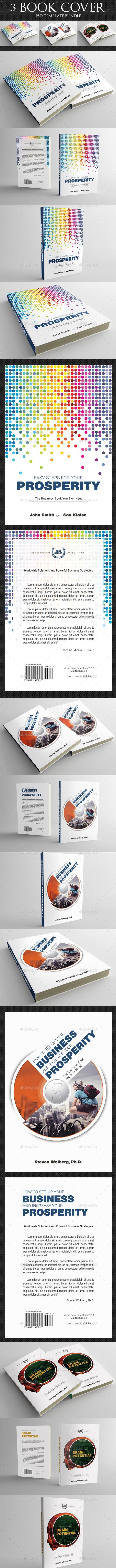 3 Corporate Book Cover Template Bundle V5 - Miscellaneous Print Templates