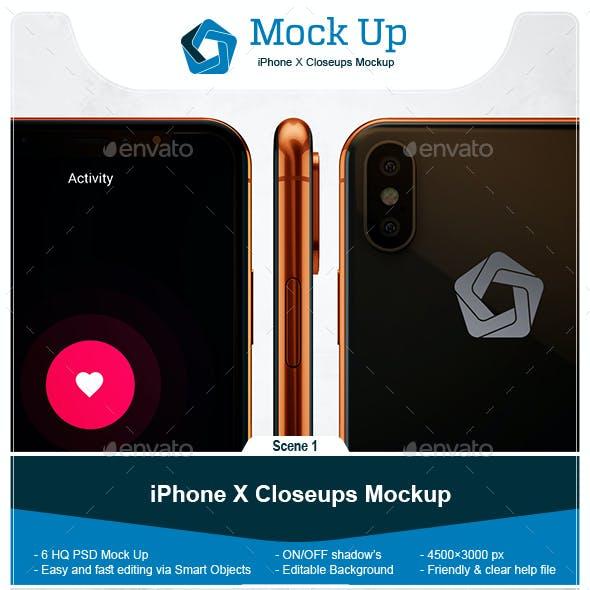 Phone X Closeups Mockup