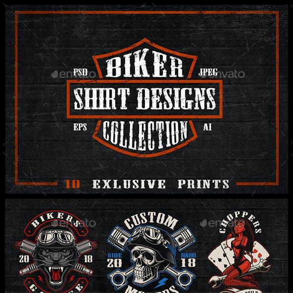 Bikers Shirt Designs Bundle