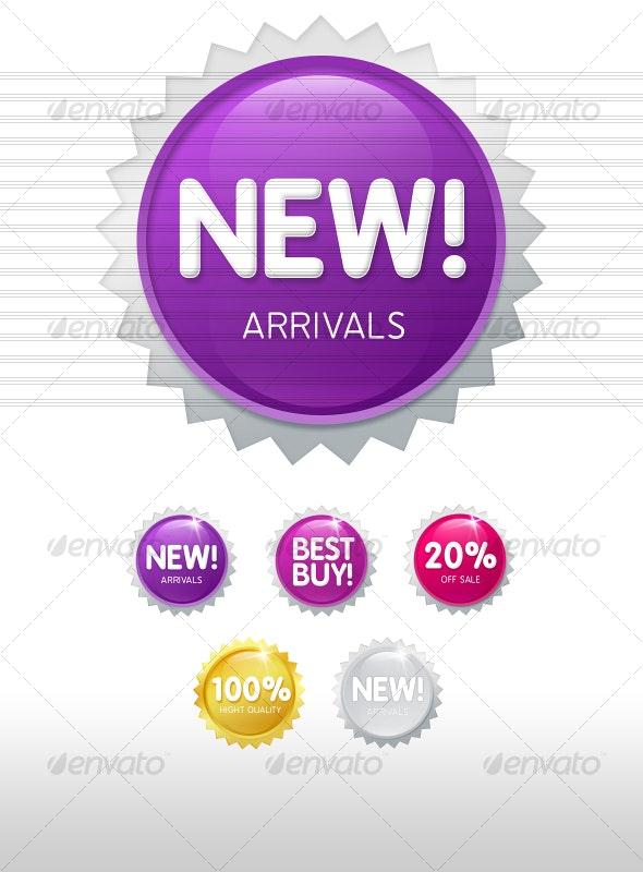 Cool Badges and Sale tags - Miscellaneous Web Elements