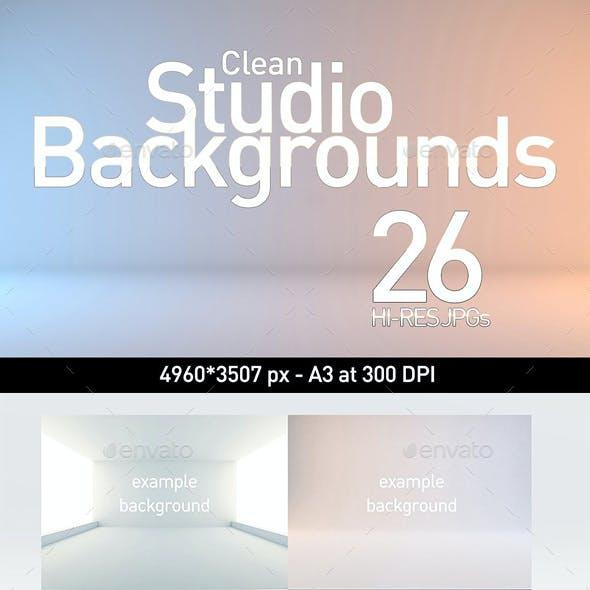 26 Clean Studio Backgrounds