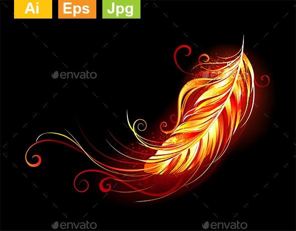 Flaming Feather - Decorative Symbols Decorative
