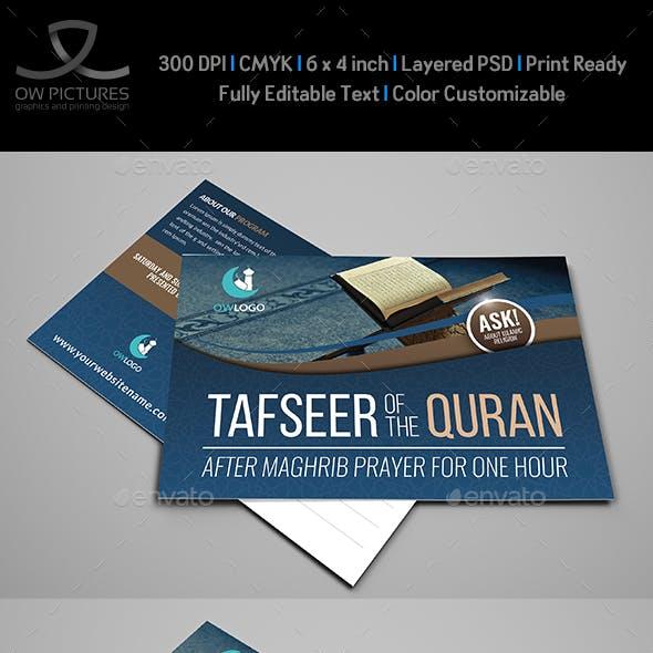 Islamic Postcard Template