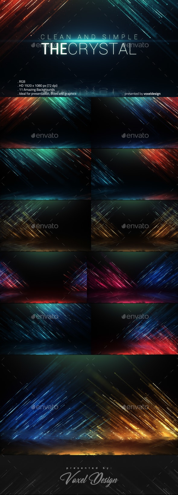 The Crystal Backgrounds - Backgrounds Graphics
