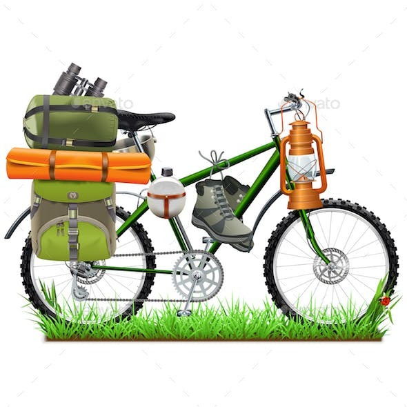 Vector Camping Bicycle