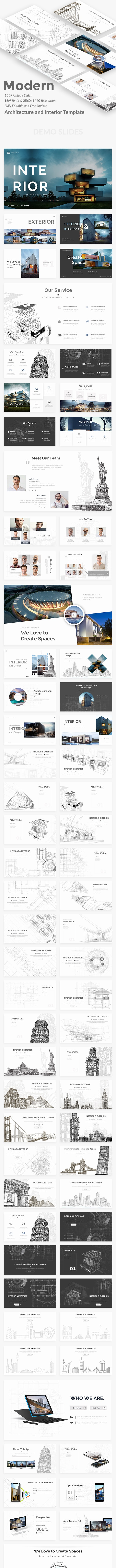 Modern - Architecture and Interior Powerpoint Template - Creative PowerPoint Templates