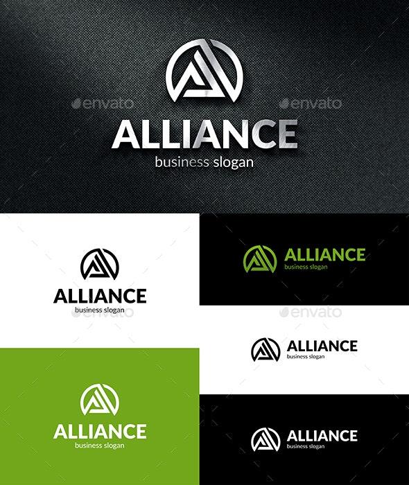 A Alliance Logo - Letters Logo Templates