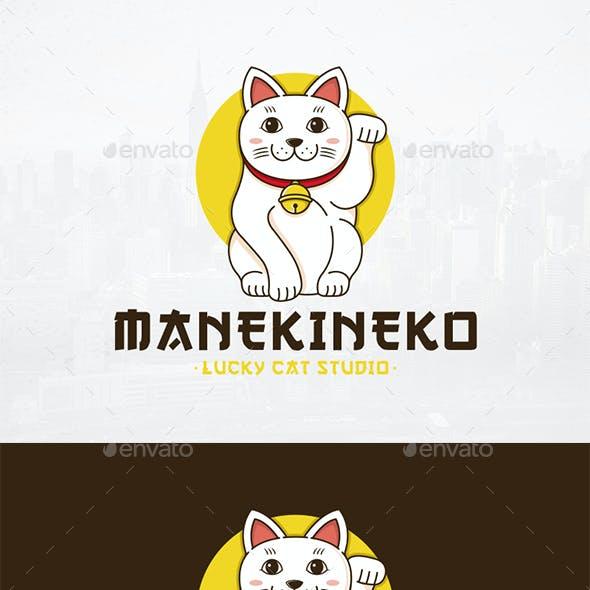 Maneki Neko Logo Template