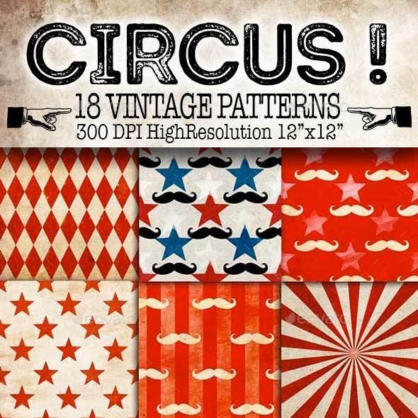 Circus! Vintage Patterns