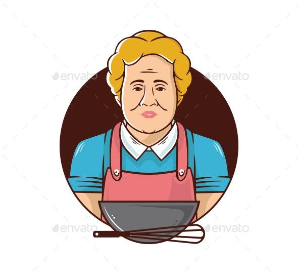 Grandma Cooking - People Characters