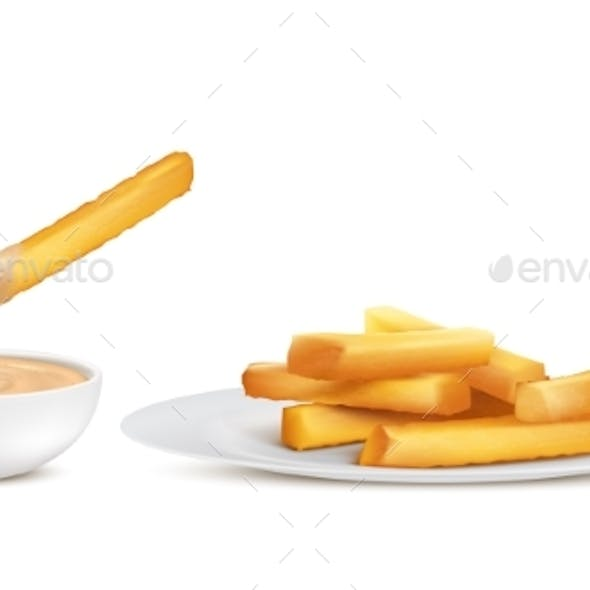 Vector Golden French Fries