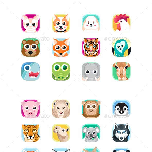 Animal App Icon Set
