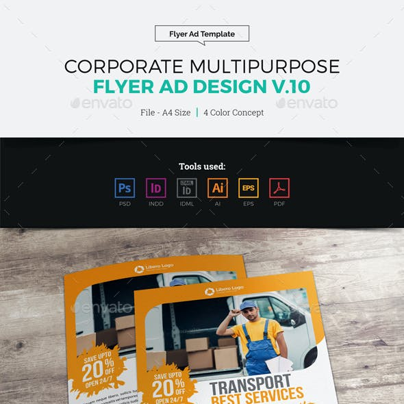 Corporate Multipurpose Flyer Ad Design v10